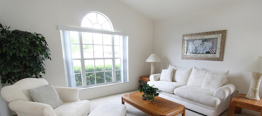 White formal lounge area.