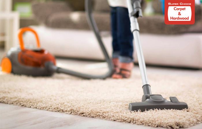 Vacuuming Carpets
